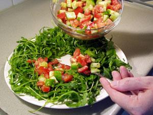 salade zongedroogde tomaat